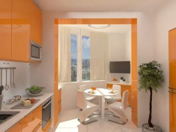 Кухня и балкон в одном